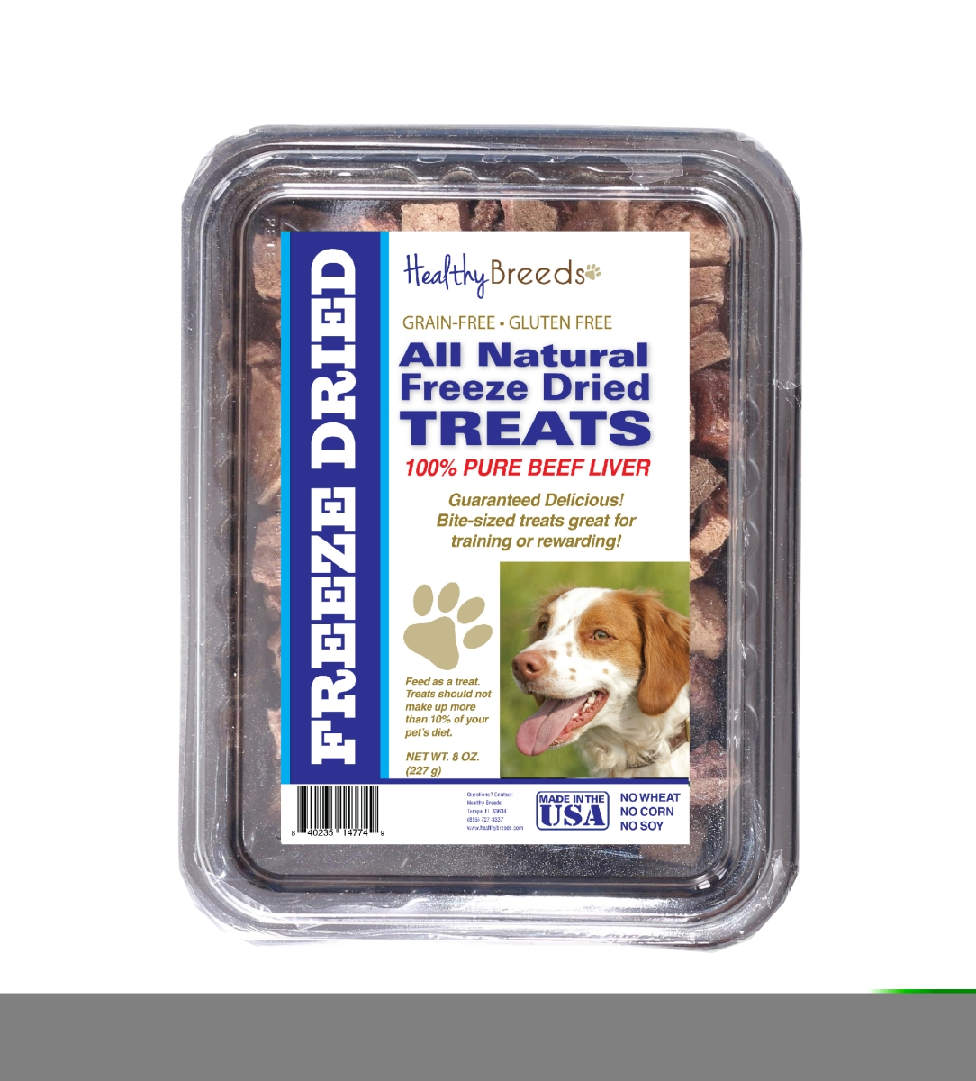 Healthy Breeds 840235148142 10 oz Brittany All Natural Freeze Dried Treats Beef Liver
