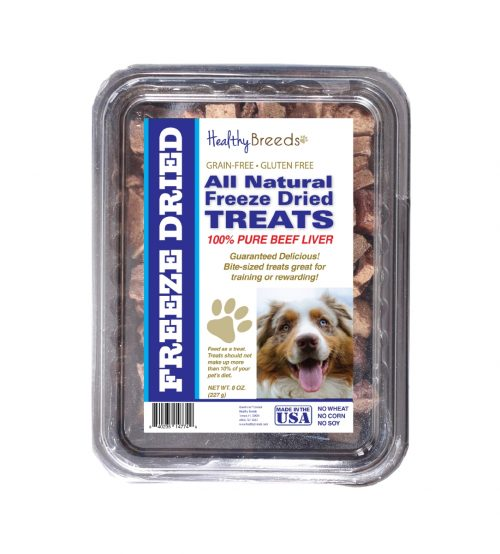 Healthy Breeds 840235148241 10 oz Australian Shepherd All Natural Freeze Dried Treats Beef Liver
