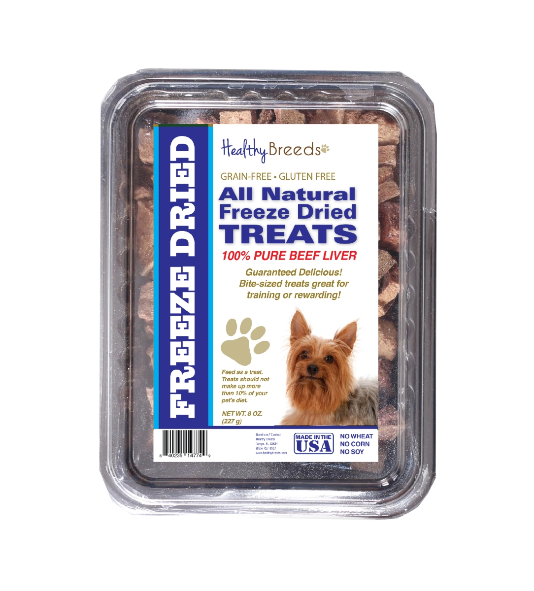Healthy Breeds 840235148272 10 oz Silky Terrier All Natural Freeze Dried Treats Beef Liver
