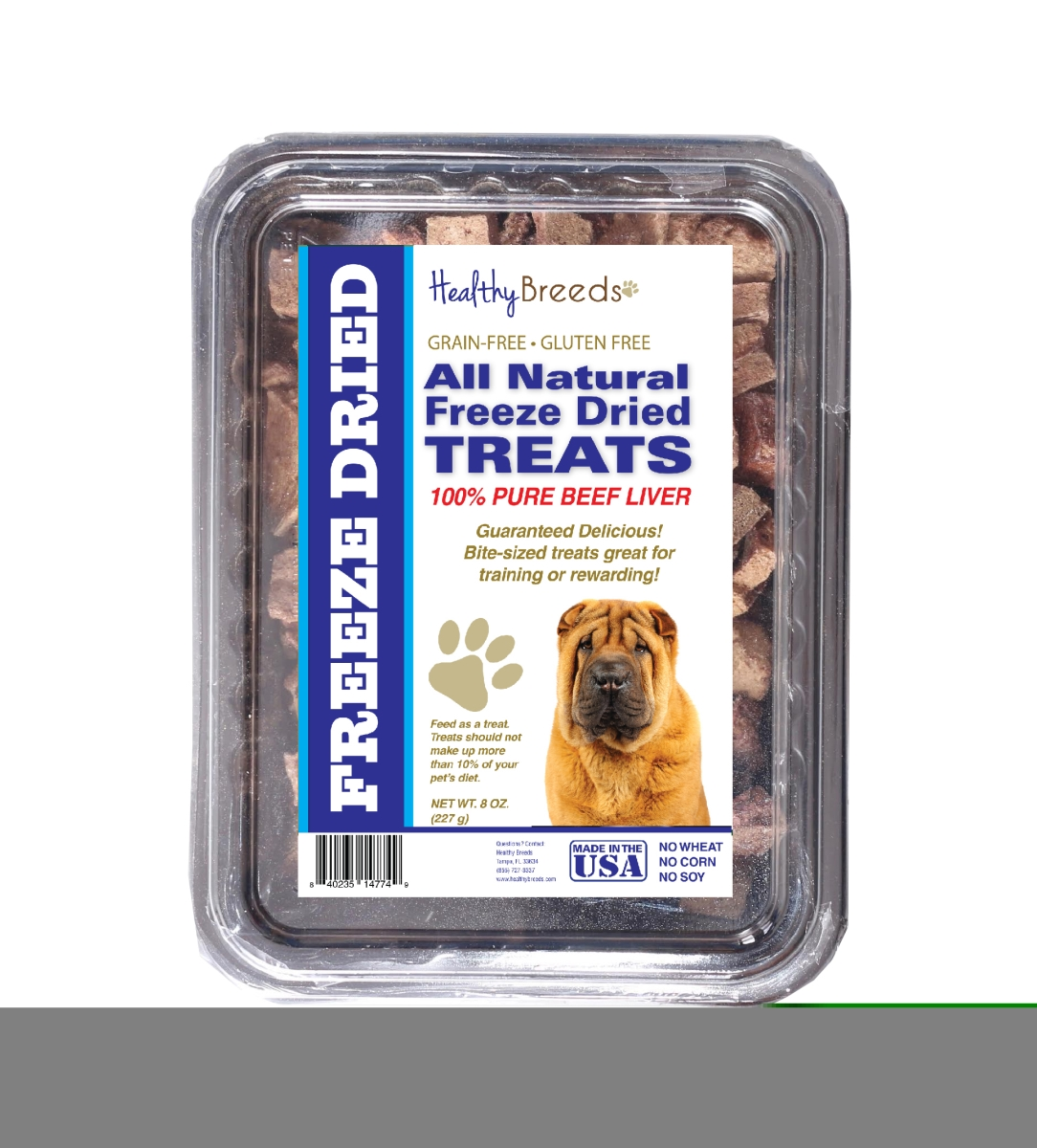 Healthy Breeds 840235148333 10 oz Chinese Shar Pei All Natural Freeze Dried Treats Beef Liver