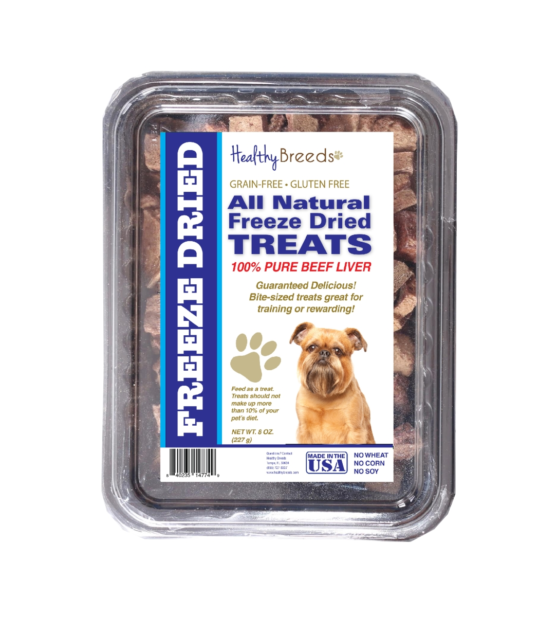 Healthy Breeds 840235148340 10 oz Brussels Griffon All Natural Freeze Dried Treats Beef Liver