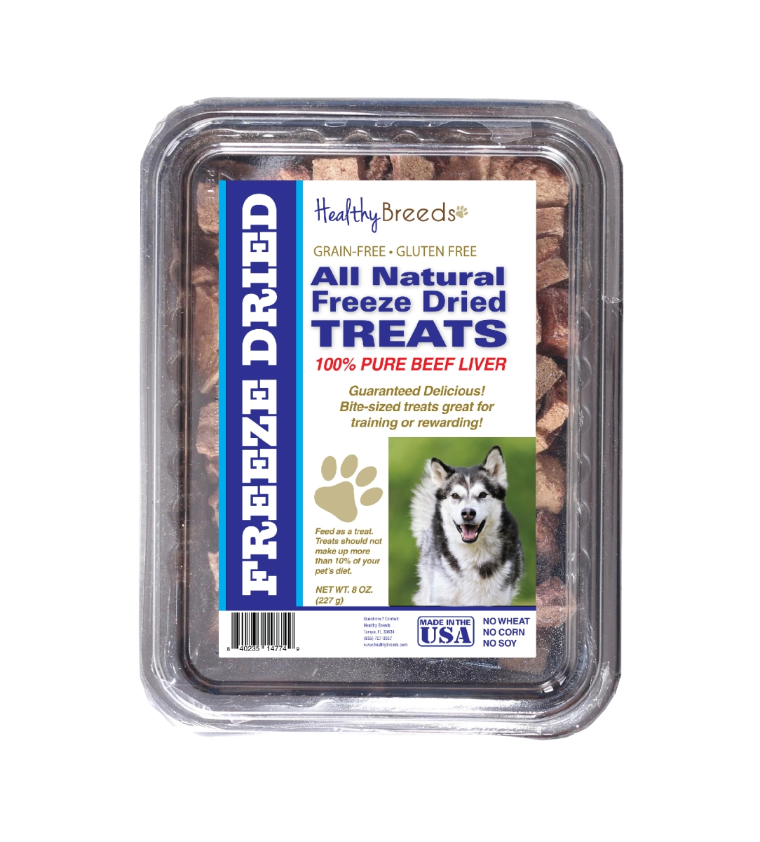 Healthy Breeds 840235148388 10 oz Alaskan Malamute All Natural Freeze Dried Treats Beef Liver