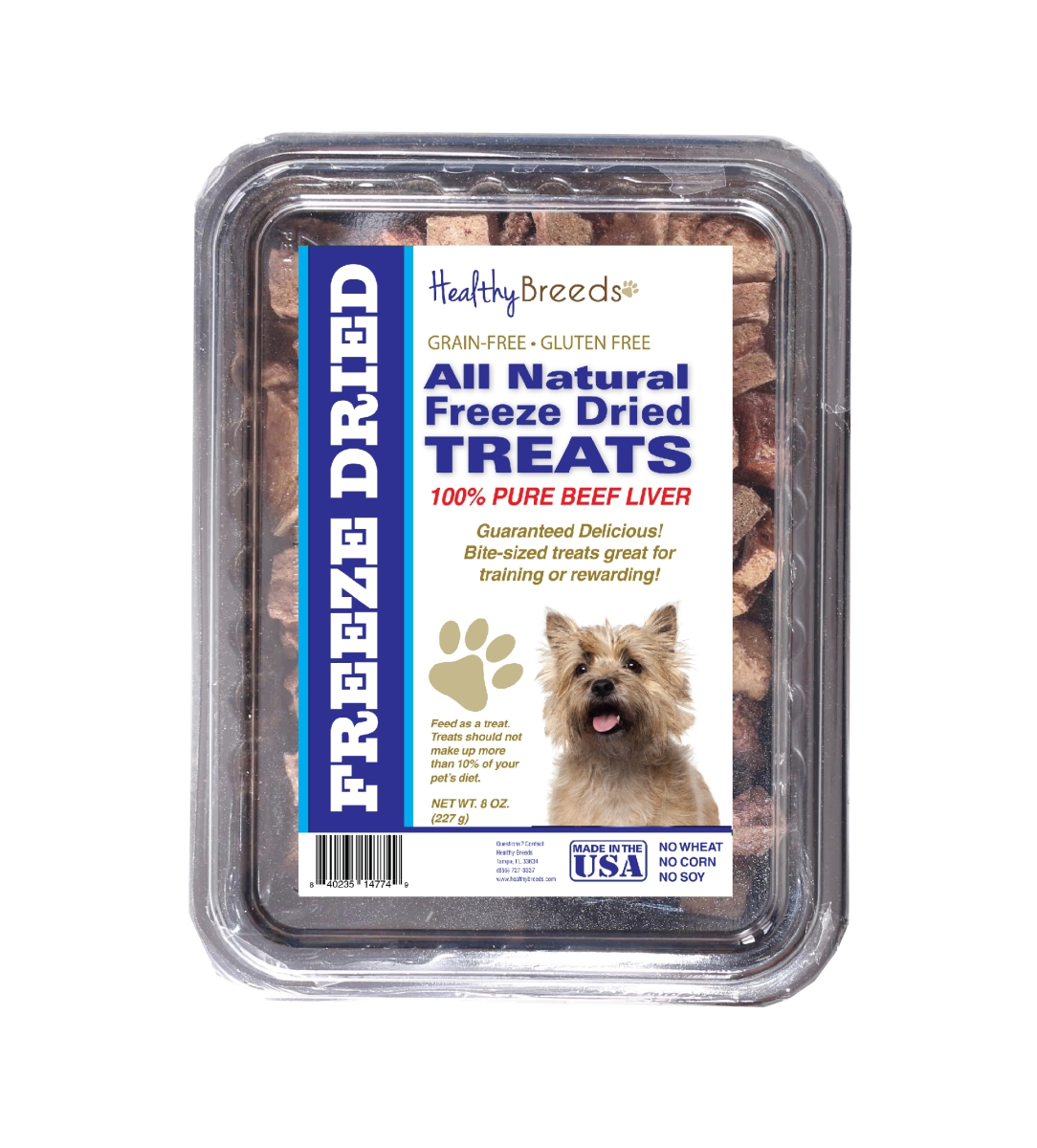 Healthy Breeds 840235148395 10 oz Cairn Terrier All Natural Freeze Dried Treats Beef Liver