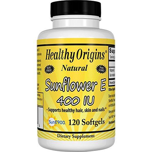 Healthy Origins 1611359 Sunflower Vitamin E-400 IU - 120 Softgels