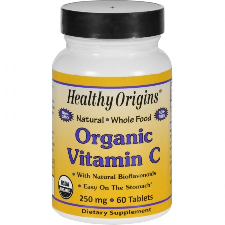 Healthy Origins 1677848 250 mg Gluten Free Organic Vitamin C 60 Tablets