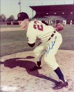 Herb Score Autographed Cleveland Indians 8X10 Photo - Deceased