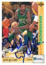 Herb Williams autographed Basketball Card (Dallas Mavericks) 1992 Upper Deck No.320