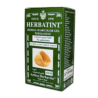Herbatint Permanent Herbal Haircolour Gel 10 DR Light Copperish Gold - 135 ml - SPN-0227058
