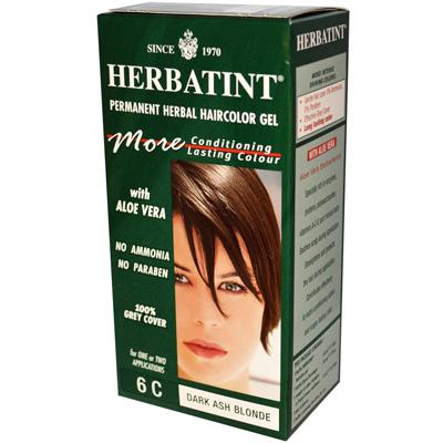 Herbatint Permanent Herbal Haircolour Gel 6C Dark Ash Blonde - 135 Ml - SPK-958843