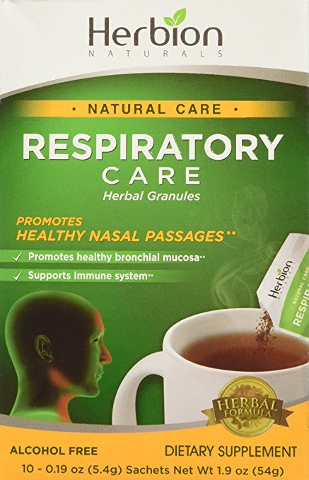 Herbion Naturals 1638238 Respiratory Natural Care Herbal Granules - 10 Count