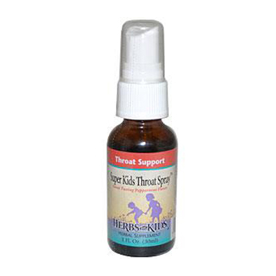 Herbs For Kids Super Kids Throat Spray Peppermint - 1 fl oz