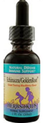 Herbs for Kids Immune Support Formula Alcohol-Free Echinacea/Goldenroot Blackberry Flavored. 1 fl. oz. 41229
