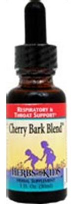 Herbs for Kids Respiratory Support Formulas Cherry Bark Blend 1 fl. oz. Alcohol-Free 41222