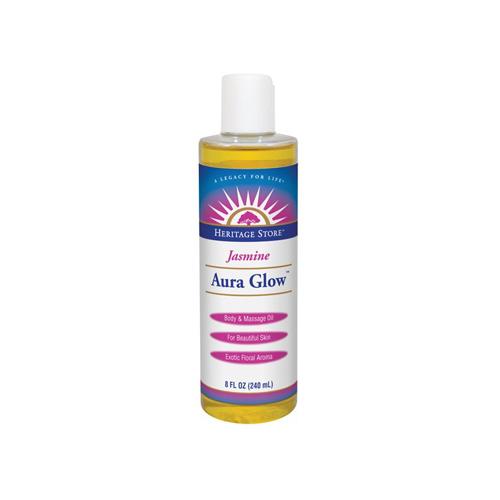 Heritage Store 0995407 Aura Glow Body Oil Jasmine - 8 oz