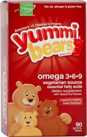 Hero Nutritional Products 1129907 Yu mmi Bear Omega 3-6-9 - 90 count