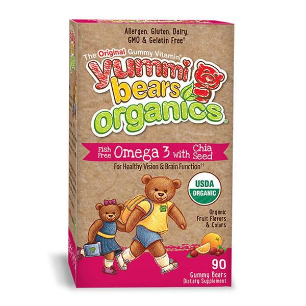Hero Nutritional Products 232093 Yummi Bears Organics Omega 3 with Chia Seed