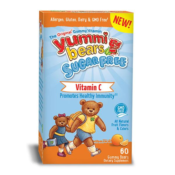 Hero Nutritional Products 232096 60 Count Yummi Bears Sugar-Free Vitamin C