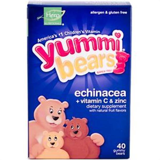 Hero Nutritional Products Yummi Bears Echinacea with Vitamin C & Zinc 40 count Vitamins & Supplements 208781