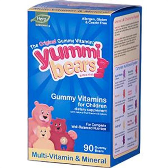 Hero Nutritional Products Yummi Bears Multi-Vitamin & Mineral Vitamins & Supplements 90 count 206267