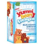Hero Nutritionals 49698 Hero Nutritionals Yummy Bears Multi-Vitamin & Mineral Sugar Free- 60 CT