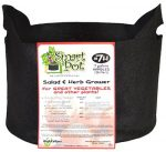 High Caliper Growing 21007RT 7 Gallon Black Patented Small Smart Pot With Handles
