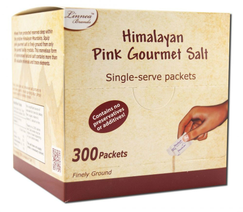 Himalayan Salt Cart 329016 Himalayan Pink Salt Packets - 300 Count Case of 18