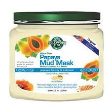 Hollywood Style 52301 21 oz White Glow Papaya Mud Mask in Jar
