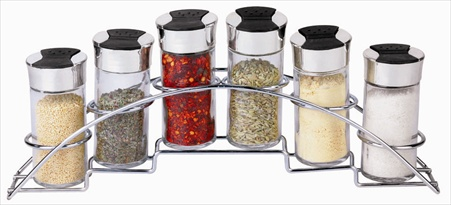 Home Basics SR10437 6 Piece Spice Rack Set Half Moon,