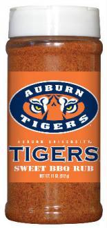 Hot Sauce Harrys 6503 AUBURN Tigers Sweet BBQ Rub - Pint