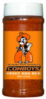 Hot Sauce Harrys 6549 OKLAHOMA STATE Cowboys Sweet BBQ Rub - Pint