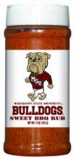 Hot Sauce Harrys 6552 MISSISSIPPI STATE Bulldogs Sweet BBQ Rub - Pint