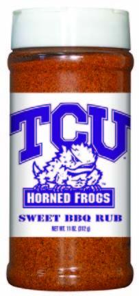 Hot Sauce Harrys 6555 TCU Horned Frogs Sweet BBQ Rub - Pint