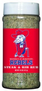 Hot Sauce Harrys 6747 MISSISSIPPI - Ole Miss - Rebels Steak & Rib Rub - Pint
