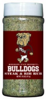 Hot Sauce Harrys 6752 MISSISSIPPI STATE Bulldogs Steak & Rib Rub - Pint
