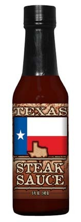 Hot Sauce Harrys HSH8097 TEXAS FLAG STEAK Sauce - 5oz