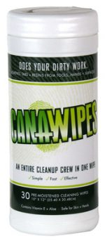 Hydrofarm 213058 Canawipes Cleaning Wipes 30 Per Pack