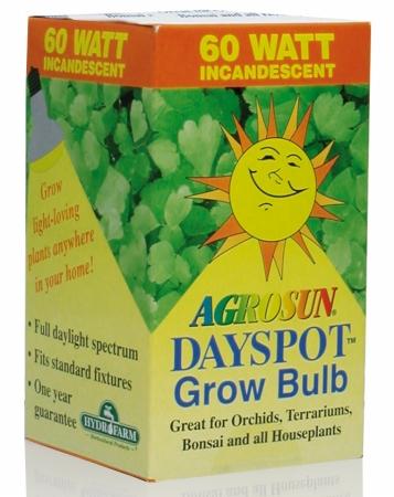 Hydrofarm 60 Watt Agrosun Dayspot Incandescent Bulb BURP413