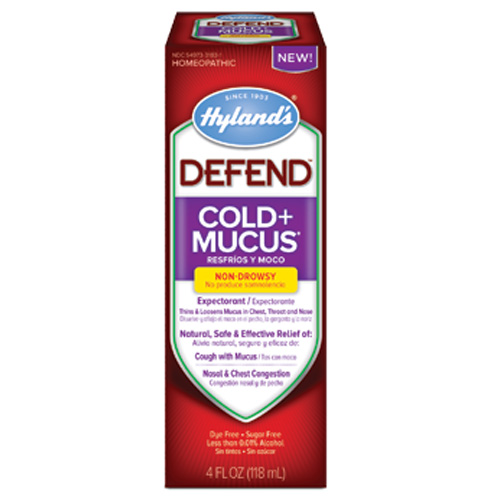 Hylands 1560846 4 oz Homepathic Cold & Mucus Defend