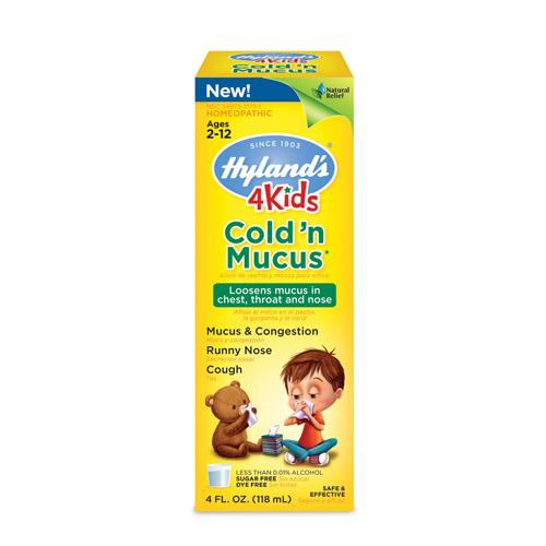 Hylands 1560887 4 oz Homepathic Cold n Mucus 4 Kids