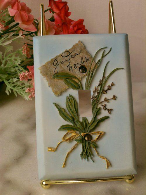 IWDSC 0176-57421 Switch Cover Garden Herbs