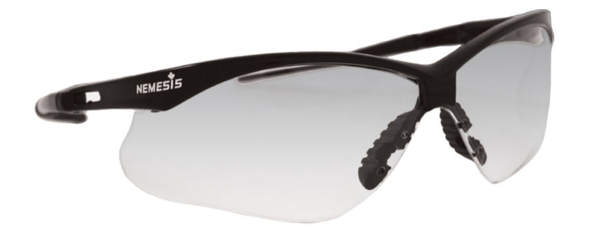 Jackson Safety 138-20381 V30 Nemesis CSA Safety Glasses Indoor-Outdoor Lenses with Black Frame - Pack of 12