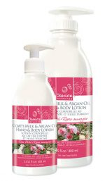 Janice Skincare 128 Goat Milk & Argan Oil Rose Petal Lotion