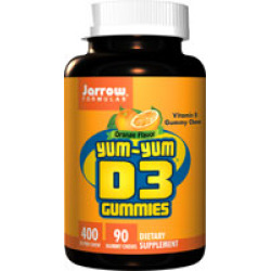 Jarrow Formulas 232309 Yum-Yum D3 Orange Lemon & Strawberry Flavored - 90 Gummies