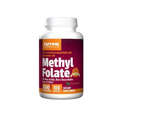 Jarrow Formulas 232917 100 mg Methyl Folate Vitamins - 100 Capsules