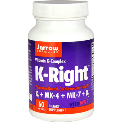 Jarrow Formulas 232934 K-Right Vitamins - 60 Soft Gels