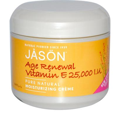 Jason Moisturizing Cr me Vitamin E Age Renewal Fragrance Free - 25000 Iu - 4 Oz - -Pack of 1