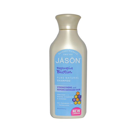 Jason Natural Products 0977504 Restorative Biotin Pure Natural Shampoo 16 fl oz