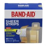 Johnson & Johnson 53117134 Band - Aid Sheer Strip Adhesive Bandage Assorted - 80 Count