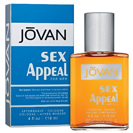 Jovan Sex Appeal for Men, AftershaveCologne - 4 fl oz