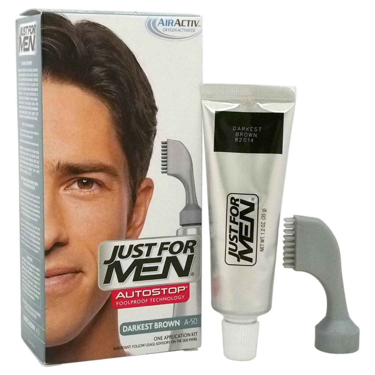 Just For Men M-HC-1247 A-50 Auto Stop Hair Color for Men Darkest Brown